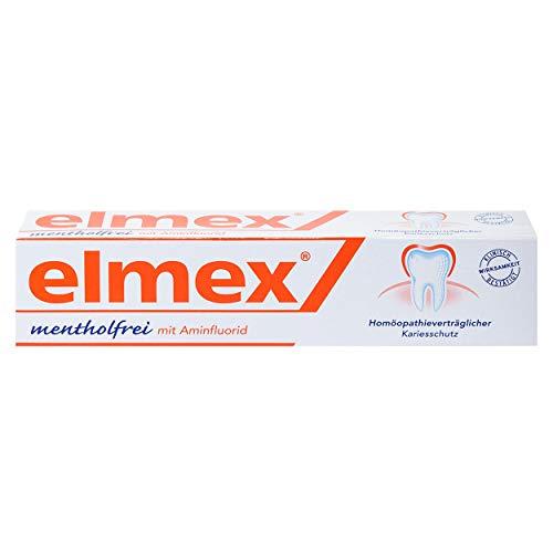 elmex mentholfreie Zahnpaste 75ml, 3er Vorteilspack (3x 75ml)