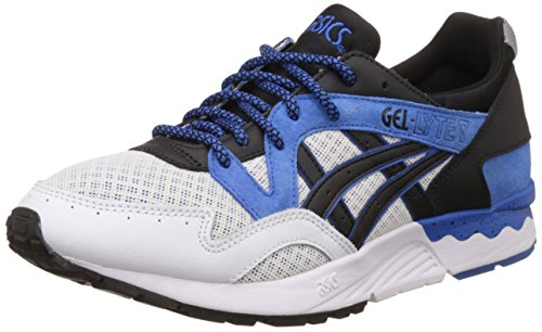 ASICS Tiger Unisex Classic Blue and Black Leather Sneakers - India