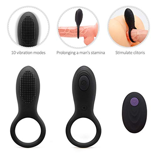 N / A Well Longer Lasting Vibrat-ing Pênǐs RḮng with Massager Brush Silicone Toys Pênǐs RḮngs Vîb-Rát-Or 7 Speeds Charged