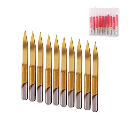 Brocas de grabado de enrutador CNC de 10 piezas, herramienta