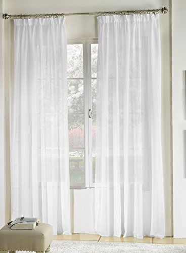 Rioma Brisa - Cortina visillo, Blanco, 200 X 270 cm