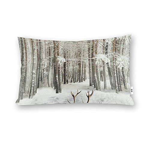 Caribou - Funda de almohada para el cuerpo, diseño de renos salvajes de Hoffman