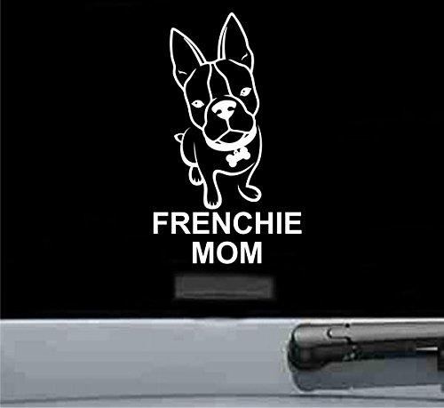 Frenchie mom Vinyl Decal Sticker (WHITE)
