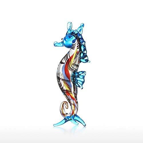 Tooarts Little Seahorse Sea Life - Figura decorativa de cristal