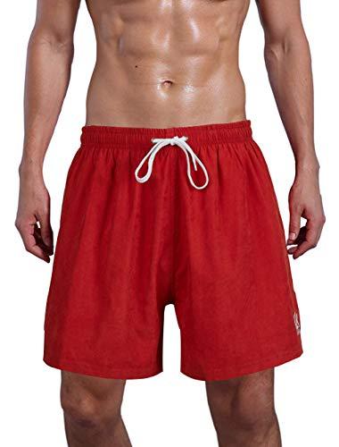 Farchat Bañador De Natación para Hombre Pantalones Cortos Baño Bóxers Playa Shorts