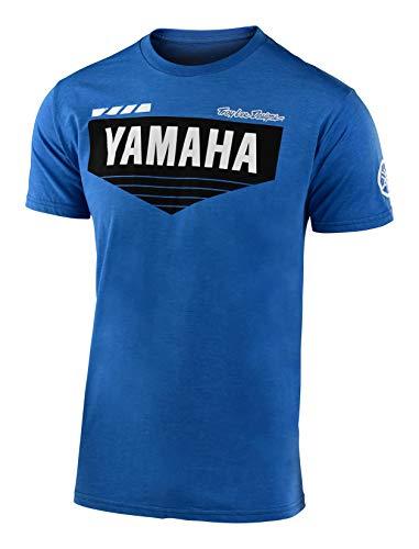 Troy Lee Designs Official Mens Yamaha L4 | Short Sleeve | T-Shirt (Royal, MD)