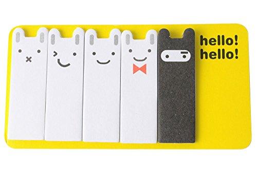 niceEshop(TM) Cute Dual Purpose Ninja Rabbit Scrap Paper Bookmark (Random Color)