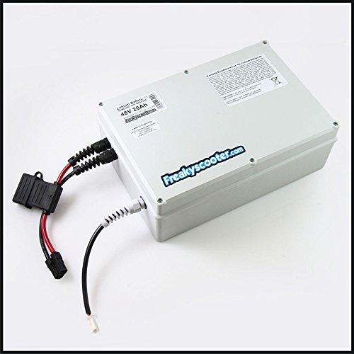 Freakyscooter - Batería de litio Samsung (48 V, 25 Ah, 1200 Wh) con cargador para eScooter