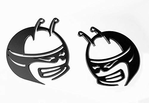 Custom Scat Pack Fender Emblem Badges (Matte Black Antenna) for Dodge Challenger and Charger (MANT)