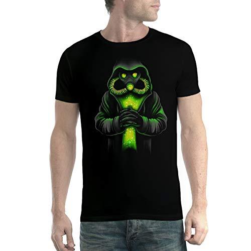 avocadoWEAR Coronavirus Maschera Antigas Covid-19 Uomo T-Shirt Nero S