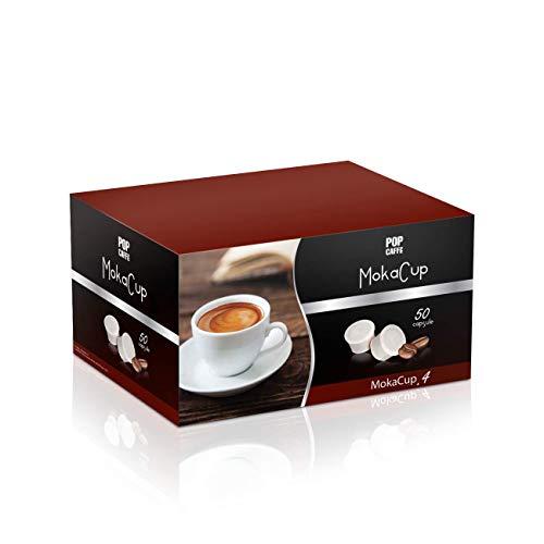 50 CAPSULE POP CAFFE\' MOKA-CUP 4 DECAFFEINATO COMPATIBILI DOMO TERMOZETA ESPRESSO CUP