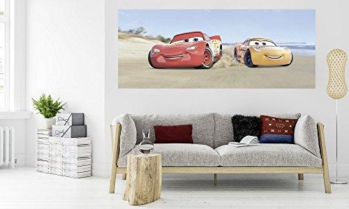 Komar - Disney - vliesfotobehang CARS BEACH - 100 x 250 cm - behang, muurdecoratie auto, raceauto, sport - 003-dv1