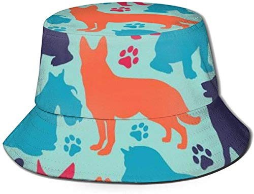 DUTRIX Caps Different Dog Breeds Fisherman's Hat Fishing Fisher Beach Cap UV Protection