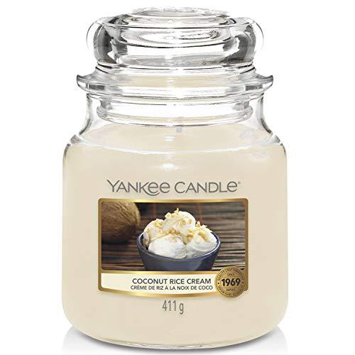 YANKEE CANDLE Candela, Crema di Riso al Cocco, Medium Jar Candle