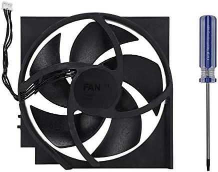 Internal Fan Tangxi Internal Cooling Fan with 5 Blades 4Pin for for Xbox One S 12 5 12 4 2 3cm product image