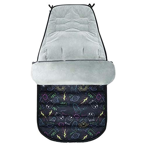 Courti - Saco de dormir exterior para bebé, saco de dormir caliente, saco de dormir para cochecito con función antideslizante e impermeable, saco de invierno para bebé, conexión universal