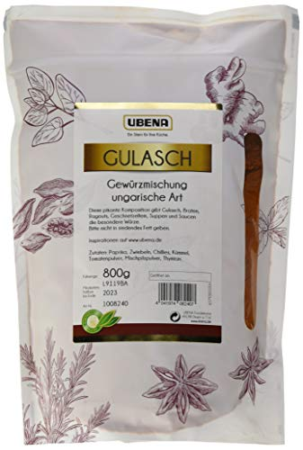 UBENA Gulasch Gewürzmischung ungarische Art im wiederverschließbaren Vorratsbeutel, 1er Pack (1 x 800 g)
