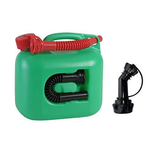 ヒューナースドルフ Hunersdorff premium 5L 燃料タンク [ 正規輸入品 純正ノズル付きセット ]ポリタンク フューエルカン プレミアム 5L ウォータータンク 燃料 灯油 タンク キャニスター キャンプ (グリーン)
