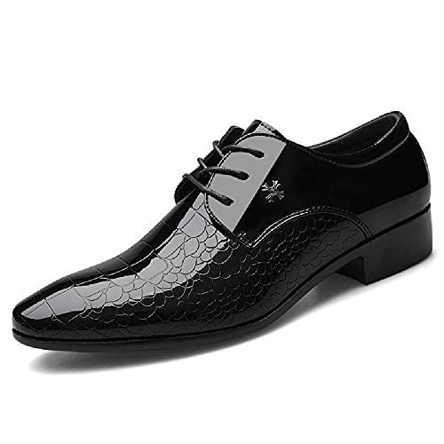 HUDUO Zapatos Cuero Hombres Zapatos Formales Negocios Zapatos Vestir Boda Gran Tamaño...