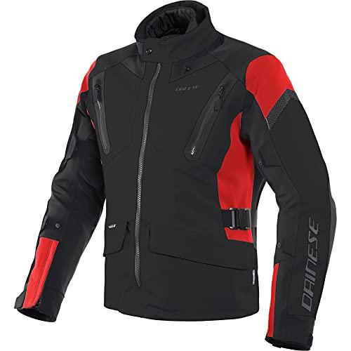 Dainese Tonale D-Dry - Chaqueta de motorista con protectores para moto, color negro, rojo y negro, talla 52 L, para hombre, Tourer, todo el año