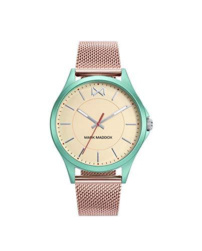 MARK MADDOX - Reloj Aluminio Verde IP Rosa Brazalete Sra Mm - MM7120-97