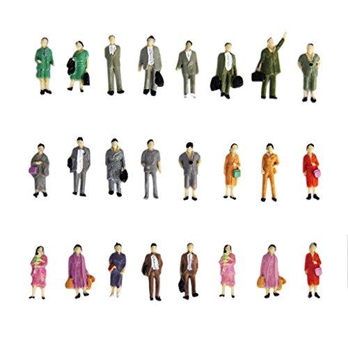 24 Stück Painted Modellbahn Stehen Menschen Figuren Maßstab HO (1 bis 87) P87-12