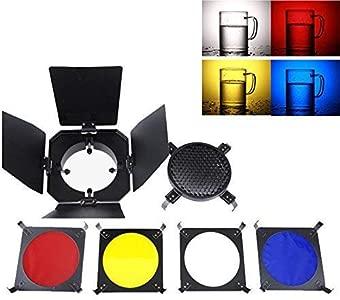 Flash Barndoor Color Gel Filters Honeycomb Grid Fit Any Flash Strobe M...