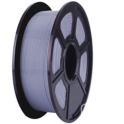 ZXC QualitäTs Pla Filament Feder 3D Filament Refills 1,75 mm Genauigkeit ± 0,02 100% Nein Blase 1 kg 2.2lb Kein Geruch Und Leicht Zu SchäLen Filament for Die Meisten 3D-Drucker(Color:Silber)