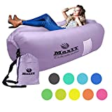 MAXIT Inflatable Hammock Sofa   Pool Floating Air Lounger Bed for Adults or Kids, Perfect for Tanning or Relaxing in The Sun   Easy to Inflate and Puncture Resistant
