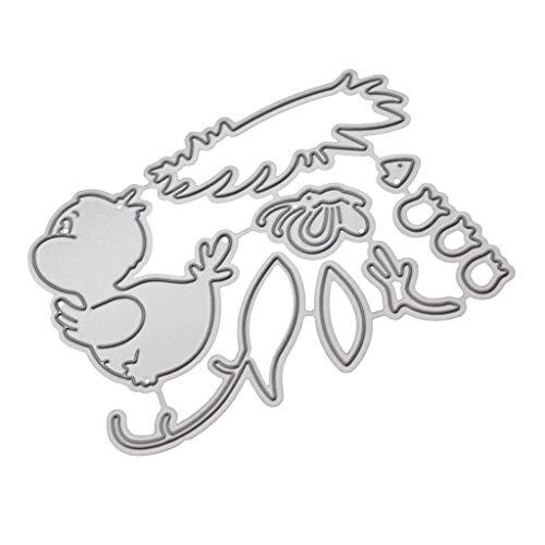 Lazzboy Stanzschablone Scrapbooking Stanzen Schablonen Prägeschablonen Stanzmaschine Stanzformen #19041111, Zubehör für Big Shot & andere Prägemaschine(B)