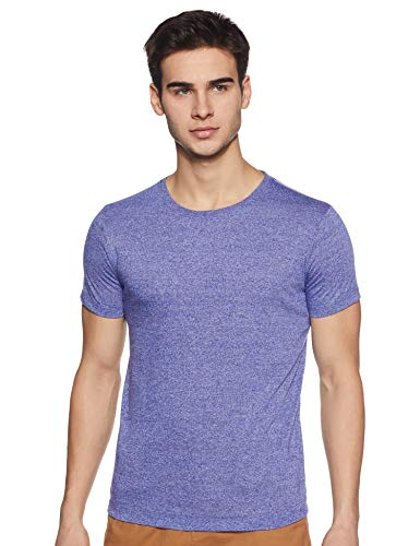6 Degrees Men's Solid Regular fit T-Shirt (6D-GRDLRN-2-XXL_Royal Blue 2XL)
