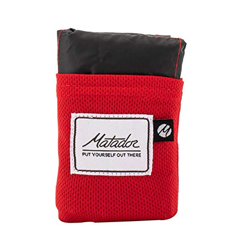 [ マタドール ] Matador ポケットブランケット 2.0 レジャーシート コンパクト 撥水 2~4人用 ブランケット 軽量 MATL3001GR オリジナルレッド Pocket Blanket Original Red [並行輸入品]