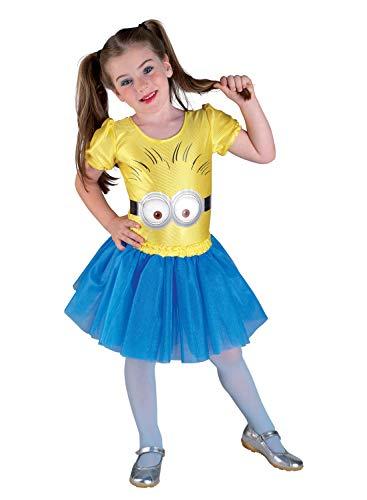 PRESTIGE & DELUXE Costume Vestito Carnevale  Minions Bambina Girl Taglia 2 3 4 Anni (3-4 Anni: Altezza Bimba/o 104 cm)