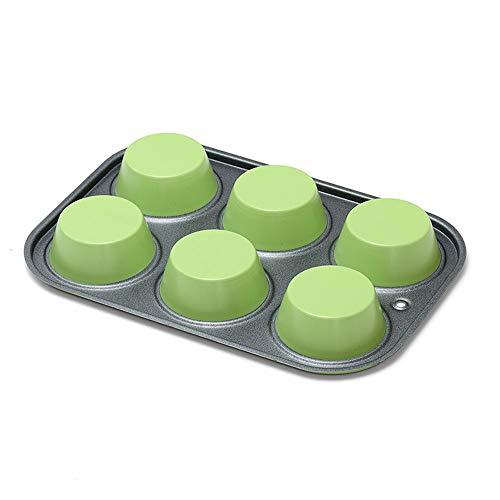 QLJJSD Baking Tray, Non-stick Pan Set, Non-stick Cookie, 6-piece Baking Cake Mold, Kitchen Oven Special Baking Tray Bakeware (Color : A)