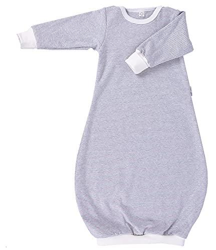 Popolini Schlupf-Schlafsack Schlafhemd Bio-Baumwolle (74/80, grau-ecru)