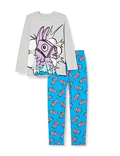 Fortnite Llama Boys Long Pyjamas Set Blue/Heather Grey Juego de Pijama, Azul/Gris Jaspeado, 11-12...