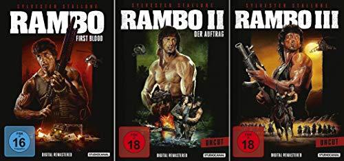 Rambo 1 + 2 + 3 Uncut (Digital Remastered) [3er DVD-Set]