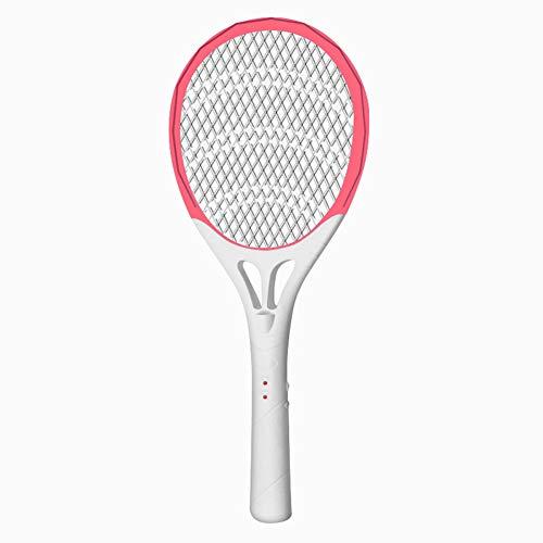 OWEM Aufladbare LED-Moskito-Klatsche-Mörder-elektrischer Tennisschläger-Handschläger-Insekten-Fliegen-Käfer Wasp ideal für Zuhause oder Reisen,E