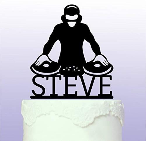 Decoración para tarta de cumpleaños, cumpleaños de DJ.