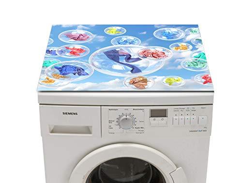 Waschmaschinenabdeckung Schutzmatte Jeans und Blasen