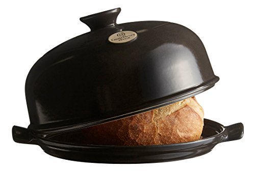 Emile Henry Made In France Bread Cloche, 13.2 x 11.2'', Charcoal