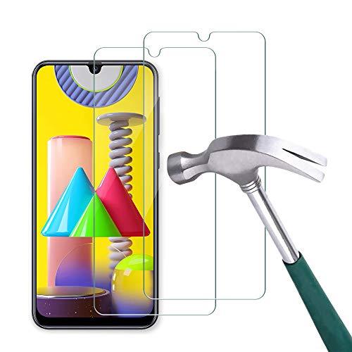 Carantee Panzerglas Schutzfolie für Samsung Galaxy M31/M21/A50/A50s, [2 Stück] 2.5D Rand Hüllefreundlich Ultradünn HD Folie, 9H Härte Blasenfrei Panzerglasfolie, Anti-Kratzer Displayschutzfolie