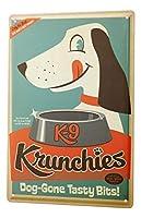 Tin Sign ブリキ看板 Dog Decoration Nostalgia Dog Food Bowl Metal Plate