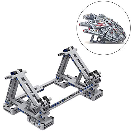 FenglinTech Vertical Stand for Lego Star Wars Ultimate Millennium Falcon 75105 Building Kit (Lego Set Not Included, 3rd Party Lego Accessory)