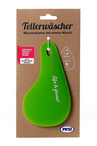 REZI Microfaserprodukte GmbH ÖKO Tellerwäscher Silikon, Lebensmittelecht, 100, Grün, 16 x 9 cm