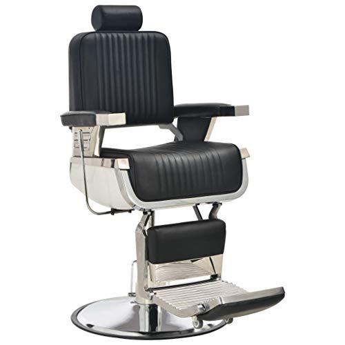 Tidyard Chaise de Barbier | Chaise Pivotante à 360 ° de Barbier | Fauteuils de Coiffure 68x69x116 cm Similicuir Noir