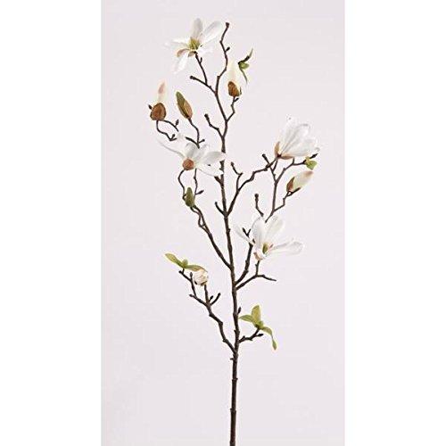 Emerald künstlicher Magnolienzweig Creme weiß H. 75cm