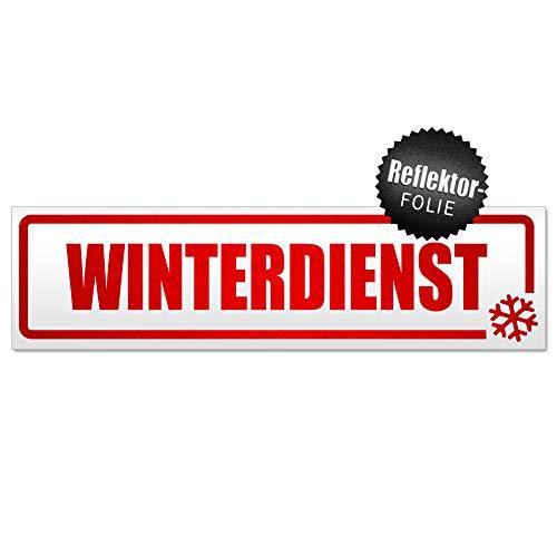 Kiwistar Winterdienst Schneeflocke Magnetschild Schild magnetisch