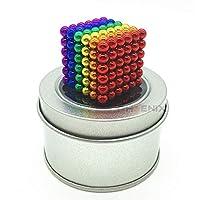 マグネットボール 5mm 216個 おもちゃ 知育 強力磁石 球型 立体パズル 5カラー マグネットボール,カラフル