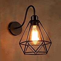 Diamond Shape Best Gift item, High Quality Product. EASY INSTALL: Includes all mounting hardware and a canopy mounting plate for quick and easy installation. It's a contractor's dream Light Weight Wall Light.Brighten any room with decorative wall sco...